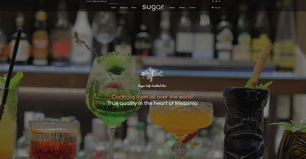 Indevin creative agency – Websites - Virtual Tours - Photos- Sugar Cafe