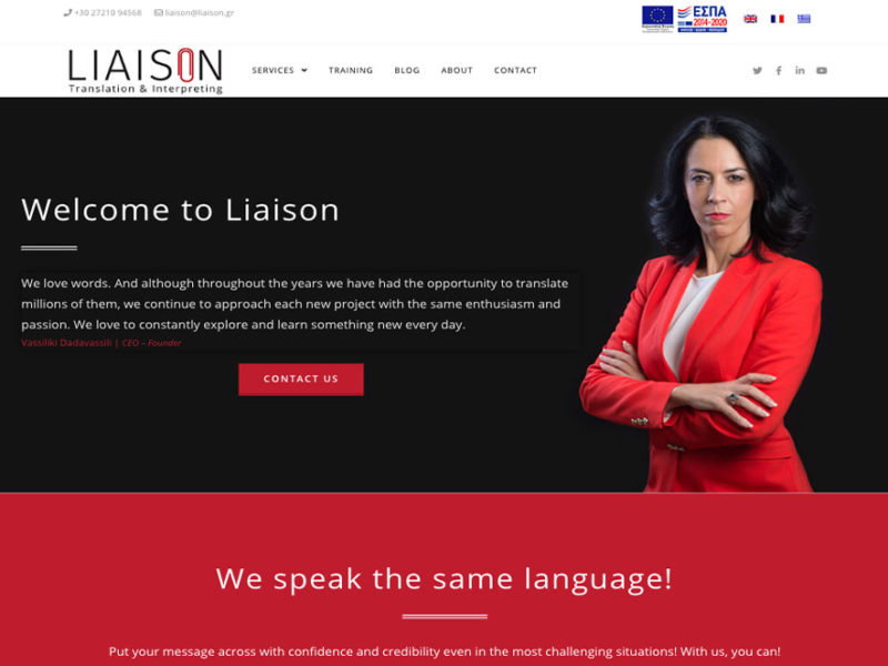 Indevin creative agency - Ιστοσελίδες - Liaison Translation & Interpreting